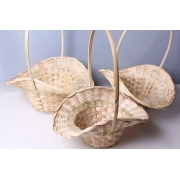 Корзина плетеная бамбук 30х13xh15/36см шляпка натуральная