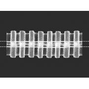 Лента шторная 05c3286 25мм прозрачная (4метра)