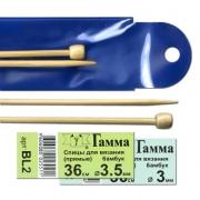Спицы прямые BL2 бамбук 36 см 3.5 мм