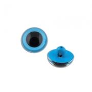 Глаза пластик CRP-9 9мм пришивные (пара) голубые