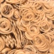 Волосы для игрушек кудрявые HAR-1 (70 г) светло-русый