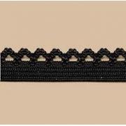 Лента эластичная GET-069 10мм черная (1м)