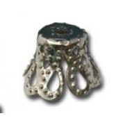 Шапочка для бусин DC-003 (выс.7мм) 10 шт. под серебро