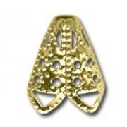 Шапочка для бусин DC-004 (выс.16мм) 10 шт. под золото