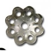 Шапочка для бусин DR-013 (11мм) 10 шт. под серебро