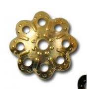 Шапочка для бусин DR-013 (11мм) 10 шт. под золото