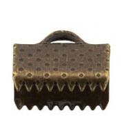 Концевик (зажим) FMK-E01 10х8 мм бронза (4 шт.)