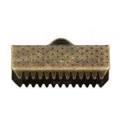 Концевик (зажим) FMK-E02 16х8 мм бронза (4 шт.)