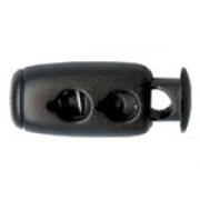 Зажим для двух шнуров 22х8мм (4шт.)