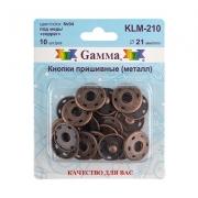 Кнопки пришивные KLM-210 21мм (10шт.) медь
