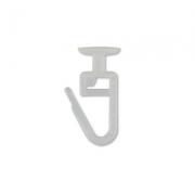 Крючок шторный на потолочный карниз С-1862 белый (10шт.)
