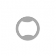 Кольцо пластик 10мм (10шт.) белое