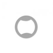 Кольцо пластик 13мм (10шт.) прозрачное