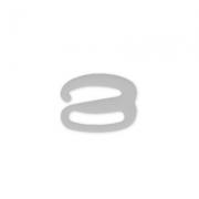 Крючок пластик HP-13 13 мм прозрачный (10 шт.)