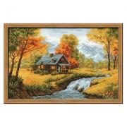 """Набор для вышивания """"Осенний пейзаж"""" 1079 38х26 см"""