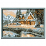 "Набор для вышивания ""Зимний пейзаж"" 1080 38х26 см"