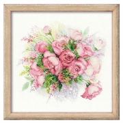 """Набор для вышивания """"Акварельные розы"""" 1335 30х30см"""