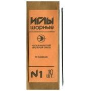 Иглы для шитья ручные шорные №1 15-275 для кожи (5 шт)