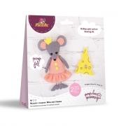 """Набор для шитья игрушки TF-0254 """"Мышка с сыром"""""""