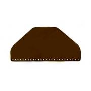Клапан для сумки  кожаный полукруглый 31 см коричневый