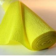 Гофрированная бумага №574 0.5х2.5м Желтый (Италия)