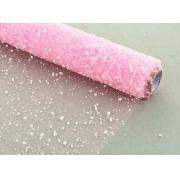 """Сетка """"Снег"""" светло-розовая 55х100см"""
