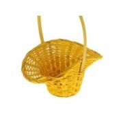 Корзина плетеная бамбук d21/13xh14/29см шляпка желтая