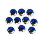 Глазки бегающие пластиковые 8 мм (10 шт.) синие