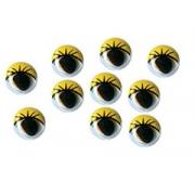 Глазки бегающие пластиковые 8 мм (10 шт.) желтые