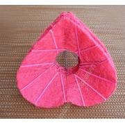 Каркас для букета (сизаль), розовый сердце 15см