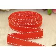 Лента репсовая со строчкой 15мм (1метр) красная