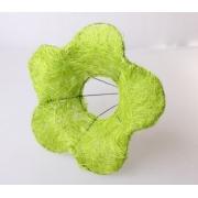 Каркас для букета (сизаль), салатовый цветок 15см