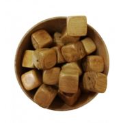 Бусины можжевеловые для грызунка кубик 13х13мм (4шт.)
