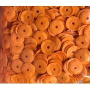 Пайетки 6 мм 10 г оранжевые