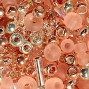 Бисер TOHO MIX 25грамм 3213 розово-золотой
