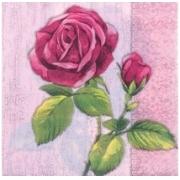 """Салфетки """"Rose на сером"""" (3шт.)"""