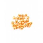 Бусины пластик PB-1 6мм (50шт.) оранжевые