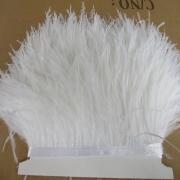 Перья страуса на ленте (48см) белый