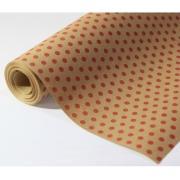 """Бумага упаковочная """"Горох"""" красный на коричневом 84х100см"""
