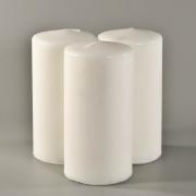 Свеча столбик белая (выс.14.5 см)