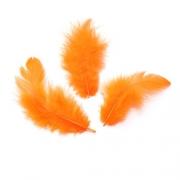 Перья 9см оранжевые (пачка)