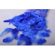 Перья 9см синие (пачка)