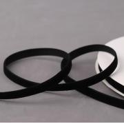 Лента бархатная 10 мм черная №3 (1 метр)