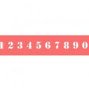 """Трафарет """"Цифры"""", высота символов 2 см"""