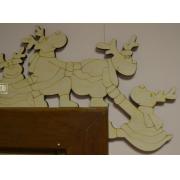 Элемент декора на угол двери или камина, 27х18 см