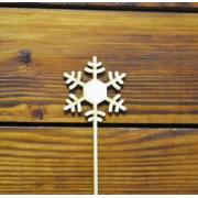 "Топпер ""Снежинка"" (Снежинка 6 см, палочка 10 см)"