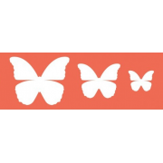 "Трафарет ""Три бабочки"", 22х7 см"