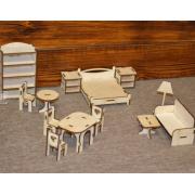 Мебель (для кукол ростом до 10 см)