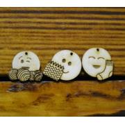 """Маркеры для вязания """"Смайлики"""". Набор 3 шт., 2 см"""