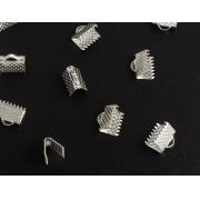Концевик (зажим) 8 мм, под серебро (6шт.)